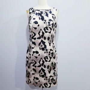 Ann Taylor leopard print dress 8 petite